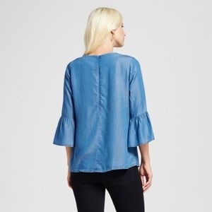 Target Tops - Alison Andrews Chambray Bell Sleeve Top